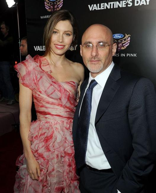 Jessica Biel and Jeff Robinov at the California premiere of
